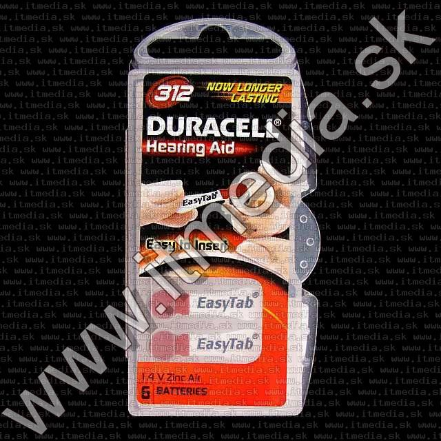 Image of Duracell battery PACK (6-set) No. 312 (DA312N6) (IT4893)