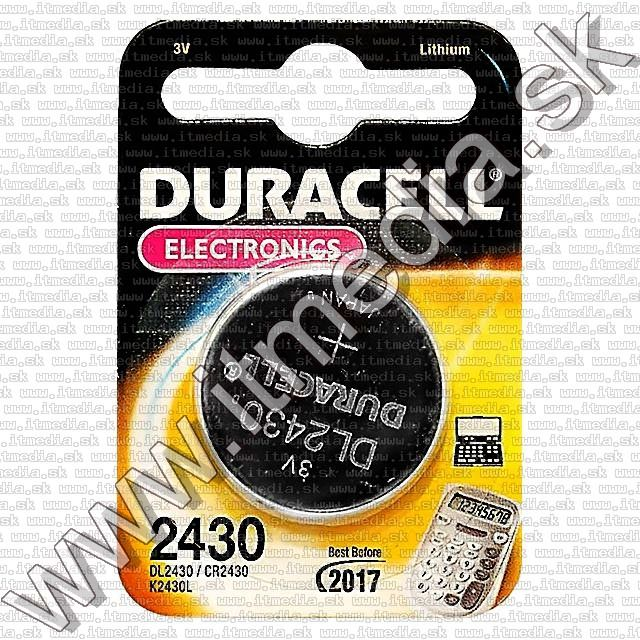 Image of Duracell,CR2430 tipusu hosszu elettartamu Lithium gombelem (IT1670)