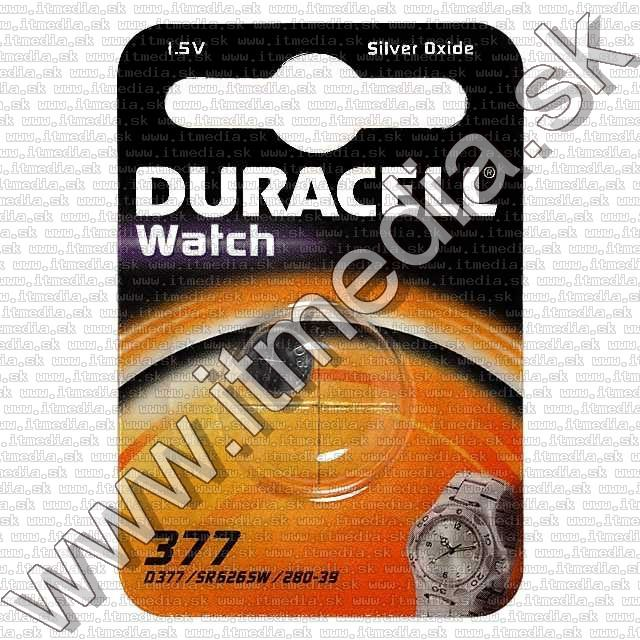 Image of Duracell Battery SR626SW no.377 1.5V Silver Oxide (IT7881)