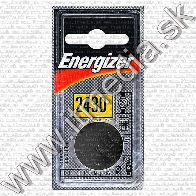 Image of Energizer hosszu elettartamu Lithium CR2430 tipusu gombelem (IT2041)