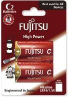 Image of Fujitsu battery ALKALINE 2xC LR14 HIGH POWER *Blister* *JAPAN* (IT11848)