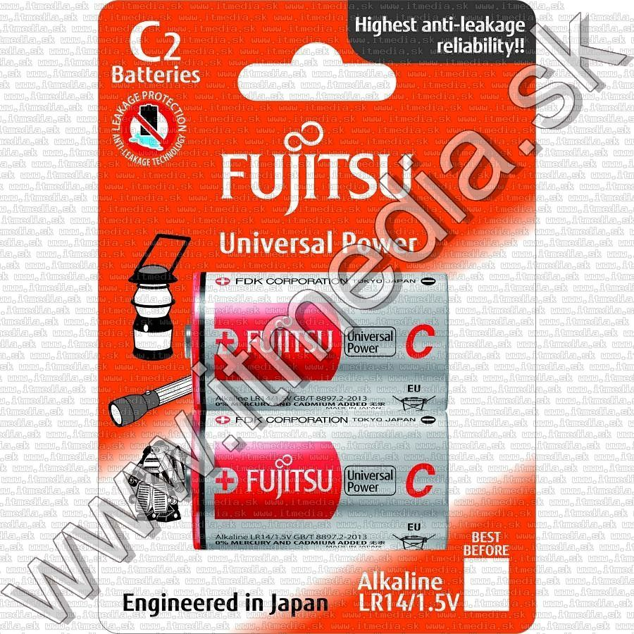 Image of Fujitsu battery ALKALINE 2xC LR14 UNIVERSAL POWER *Blister* *JAPAN* (IT11844)