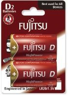 Image of Fujitsu battery ALKALINE 2xD LR20 HIGH POWER *Blister* *JAPAN* (IT11849)