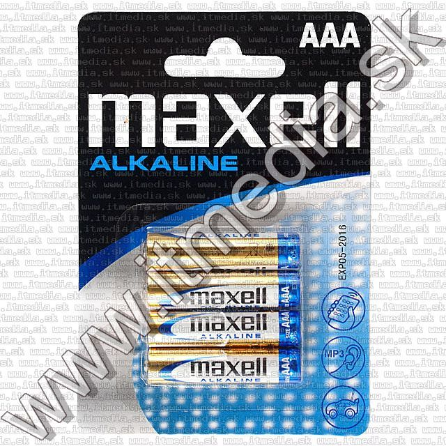 Image of Maxell battery ALKALINE 4xAAA LR03 *Blister* (IT7426)