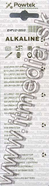 Image of Button battery PACK (10-set) AG13 (LR44) (Mediarange) (IT0582)