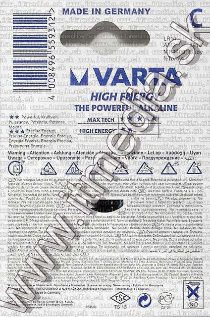 Image of VARTA battery alkaline 2x LR14 (4914) (IT6595)