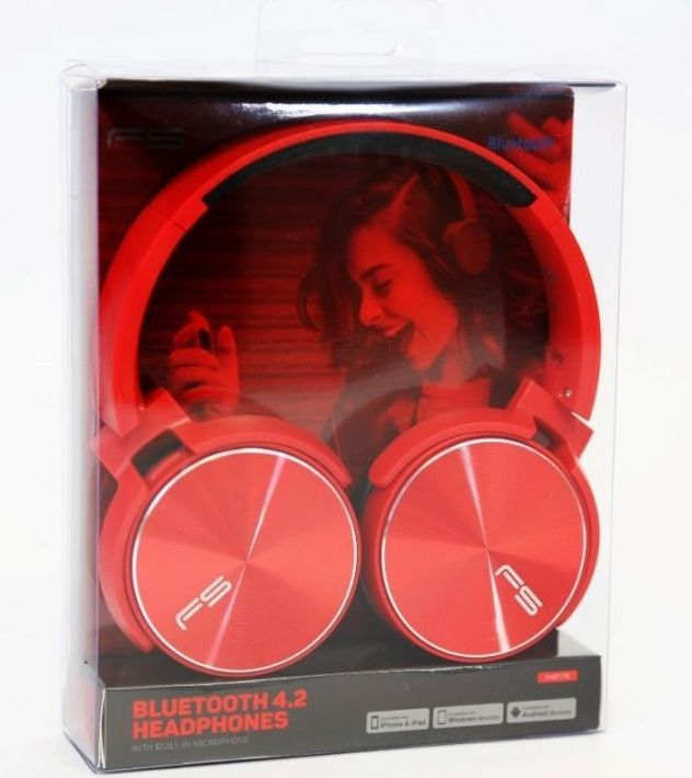 Image of Freestyle Bluetooth Headphones with MP3 (microSD) 44388 FH0917R (IT13687)