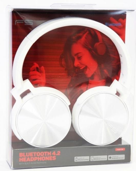 Image of Freestyle Bluetooth Headphones with MP3 (microSD) 44392 FH0917W (IT13686)