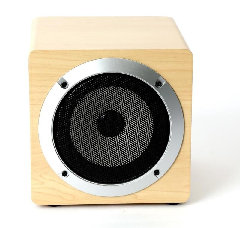 Image of Wireless Bluetooth Speaker with mic and FM OG60W (Wood 3) (IT13533)
