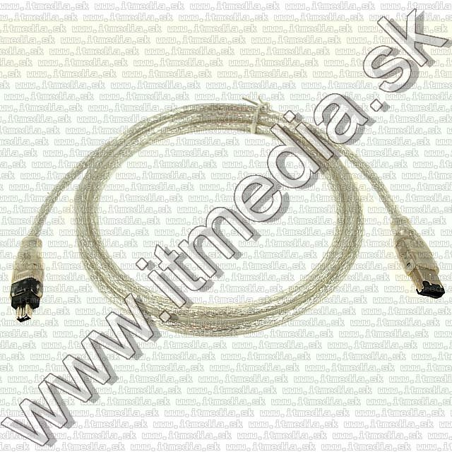 Image of FireWire ILink IEE1394 Cable4-6pin 1.4m silver (IT1663)