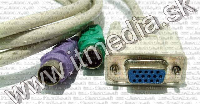 Image of KVM Combined Cable VGA-PS2 keyboard-mouse 1.5m (IT4656)