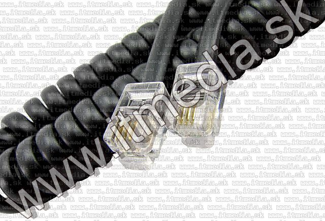 Image of Telephone Handset Cable 5m Black RJ-11 (2x 6P4C) (IT5302)