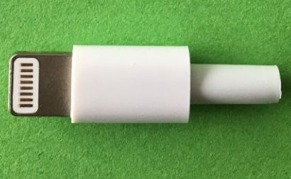 Image of Lightning connector **plastic housing** (Male) White (IT14157)