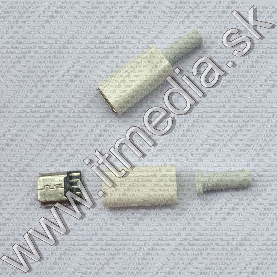 Image of MicroUSB connector **plastic housing** (Female) *White* (IT13150)