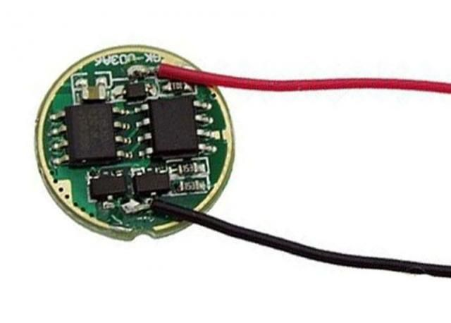 Image of DC-DC LED Driver panel (IN 3..4.5V) to 3A CC for CREE XML (flashlight) 17mm (IT11038)