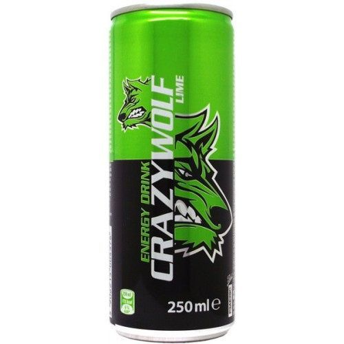 Image of Crazy Wolf Energia Ital 250ml Dobozos Lime (IT13913)