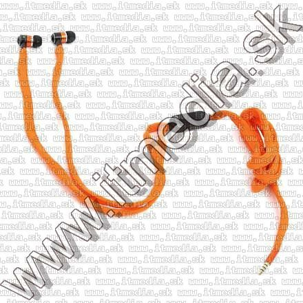 Image of Omega Freestyle Silicone Headset FH2112 Orange *Fabric Braided* (IT10946)