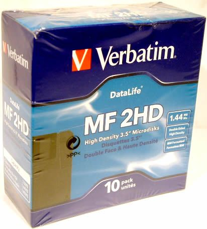 Image of Verbatim Floppy, 10pack DSHD 1.44MB (IT2638)