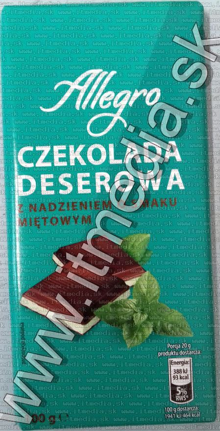 Image of Allegro Mint Chocolate 100g  (IT13915)