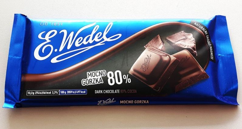 Image of E. Wedel Chocolate 100g (Dark Chocolate 80%) (IT13878)