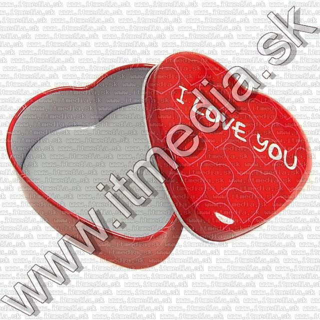 Image of Metal Box set Gift Pink Heart 3-set *RED* (IT8038)