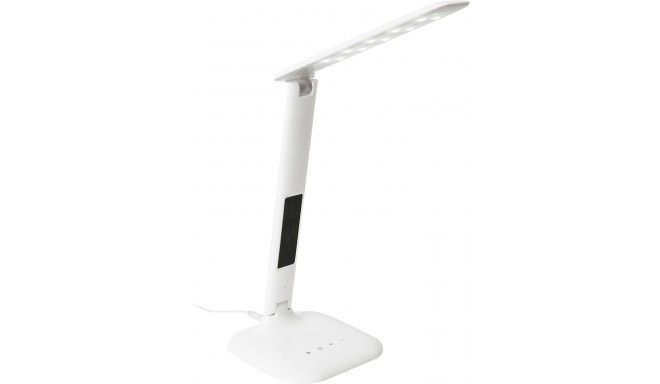 Image of Platinet USB Desk LED Lamp Touch Switch 6W + Clock (IT13407)
