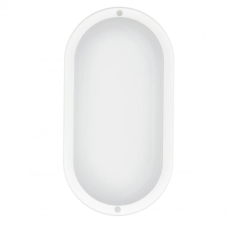 Image of Omega Aries Bulkhead Led Lamp 230V 8W Natural white Oval [44827] INFO! (IT14404)