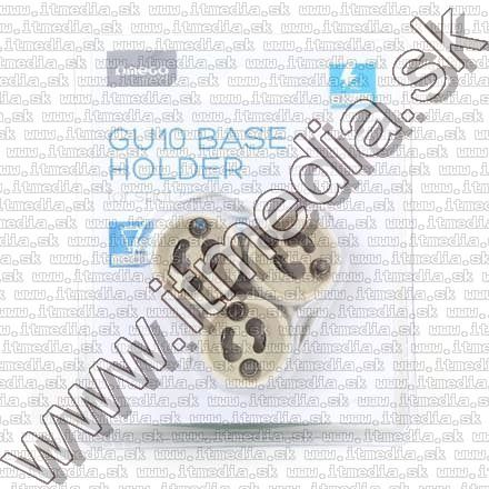 Image of Bulk Lamp Base Holder GU10 *Ceramic* 3pk (IT12727)