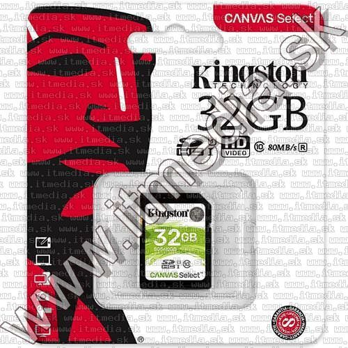 Image of Kingston Canvas Select SD-HC card 32GB UHS-I U1 Class10 (SDS) (IT13476)