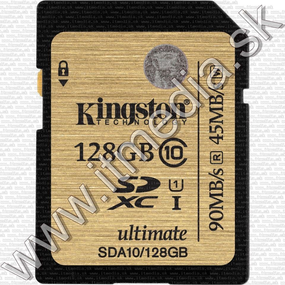 Image of Kingston SD-XC card 128GB UHS-I U1 GOLD Class10 (SDA10) (IT11460)
