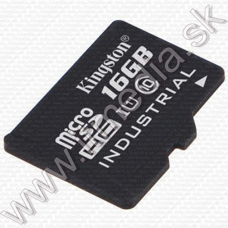 Image of Kingston microSD-HC kártya 16GB UHS-I U1 Industrial SDCIT/16GB + adapter (90/45 MBps) (IT12084)