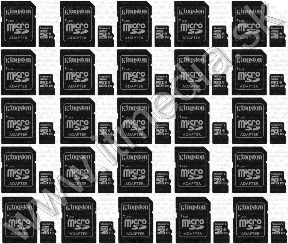 Image of MEGA Kingston pack microSD 32GB (80/10 MBps) SDCS 25db INFO!!! (IT13669)