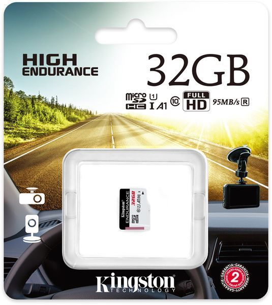 Image of Kingston microSD-HC card 32GB class10 *High Endurance* [95R30W] INFO! SDCE/32GB (IT13890)