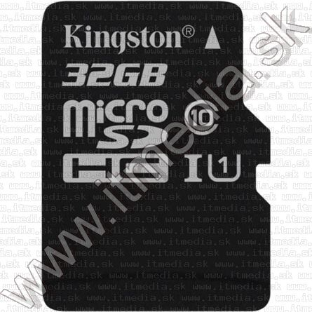 Image of Kingston microSD-HC kártya 32GB UHS-I U1 Class10 adapter nélkül! (45/10 MBps) (IT11558)