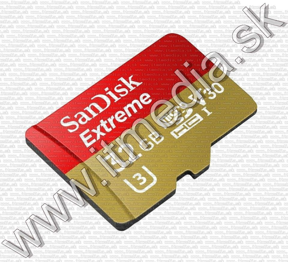 Image of Sandisk microSD-HC kártya 32GB UHS-I U3 V30 *Mobile Extreme CLASS10* 90/60 MB/s + adapter (IT12761)