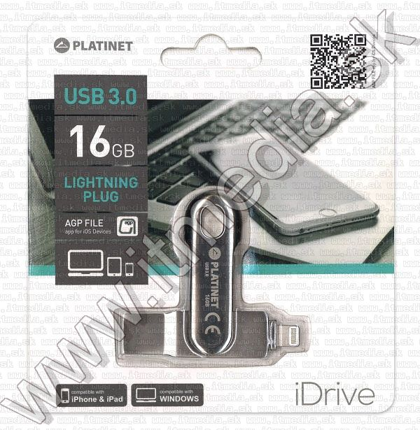 Image of Platinet iOS USB 3.0 + lightning pendrive 16GB Licensed INFO!*(44323) (IT13449)