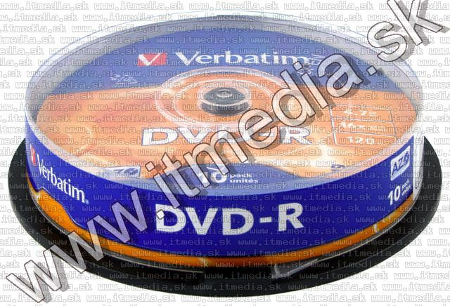 Image of Verbatim DVD-R 16x 10cake (43523) (IT6197)