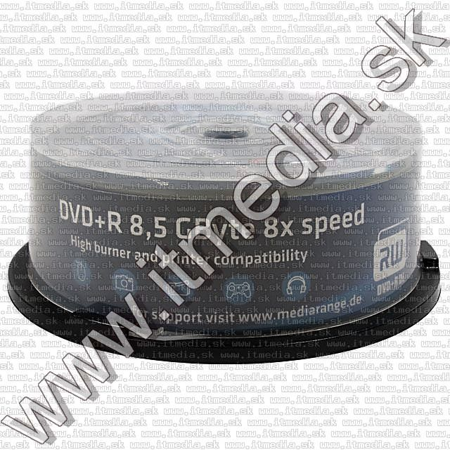 Image of MediaRange DVD+R Double Layer 8x Fullprint 25cake (IT7091)