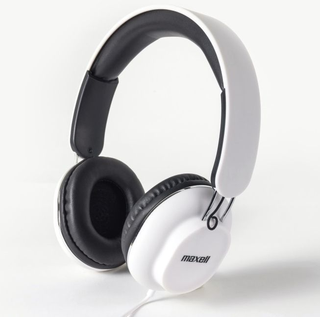 Image of Maxell Headphone with Mic Classic White 303786.00.CN (IT13793)