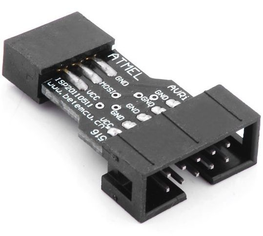 Image of Programmer cable adapter USBASP (AVRisp) to ATMEL STK500 10-6pin (IT12764)