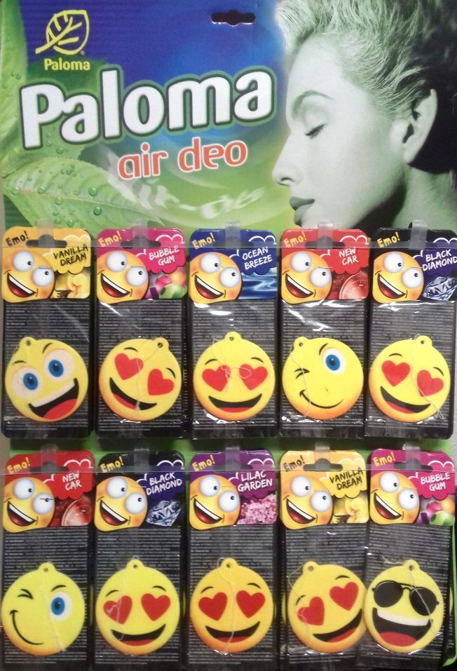 Image of Paloma Car Air Fresher *Emoji* Mix INFO! (IT14289)