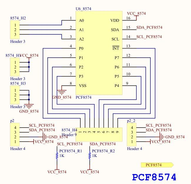 Image of PCF8574 I2C I/O bővítő (multiplexer) 8-port (Arduino) V2 INFO! (IT14025)
