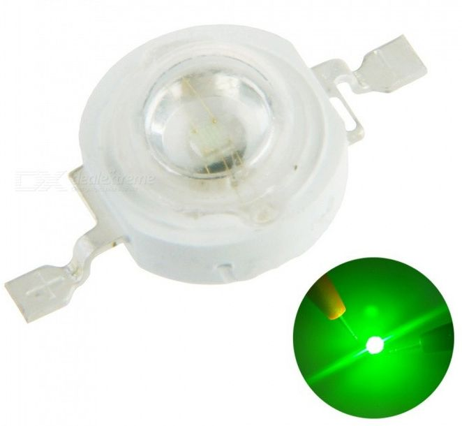 Image of Led Lamp Bead Diode *Warm White* 1watt 80lM GREEN (IT13567)