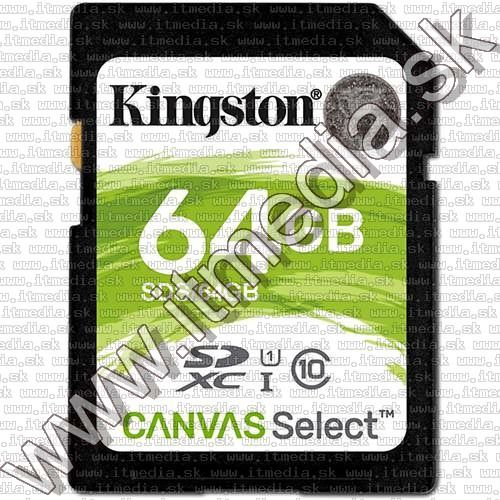 Image of Kingston Canvas Select SD-XC card 64GB UHS-I U1 Class10 (SDS) (IT13477)