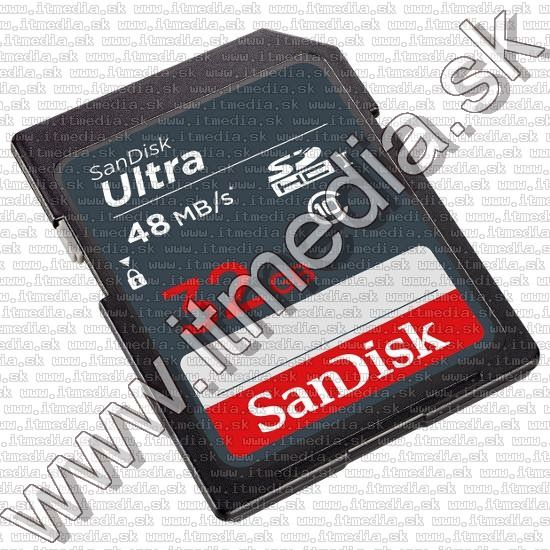 Image of Sandisk SD-HC kártya 32GB UHS-I U1 *Ultra* Class10 48MB/s (IT12757)