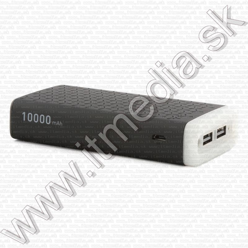 Image of Platinet Powerbank 10000mAh Black +Ambient light 2.1A Polymer (IT13691)