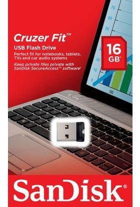 Image of Sandisk USB pendrive 16GB *Cruzer Fit* *NANO* (IT7744)